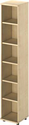 TETRIS WOOD open kast, 6 OH, b 400, hoogte incl. glijders, sokkel (optioneel), ahorndecor