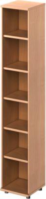 TETRIS WOOD open kast, 6 OH, b 400, hoogte incl. glijders, sokkel (optioneel), beukendecor