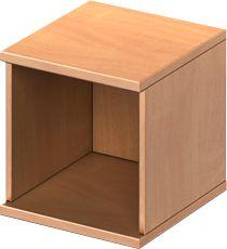 TETRIS WOOD opzet boekenkast, 1 OH, spaanplaat, B 400 x D 421 x H 400 mm, beukendecor