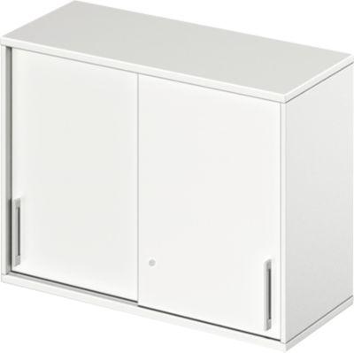 TETRIS WOOD opzetschuifdeurkast, 2 OH, b 1000 mm, hoogte icl. glijders, sokkel (optioneel), wit