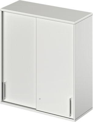 TETRIS WOOD opzetschuifdeurkast, 3 OH, b 1000 mm, lichtgrijs