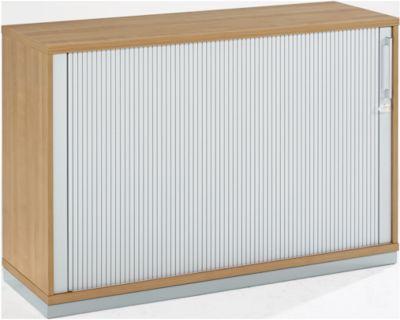 TETRIS WOOD roldeurkast, 2 OH, b 1200 x d 421 x h 800 mm, kersen Romana-decor