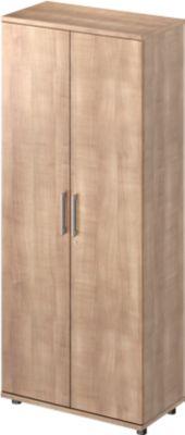 TETRIS WOOD vleugeldeurkast, 5 OH, b 800 mm, hoogte icl. glijders, sokkel (optioneel), kersen Romana-decor