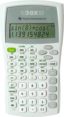 Texas Schulrechner TI-30 X IIB, weiß