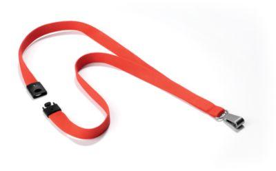 Textilband Soft Colour, mit Karabiner, B 15 x L 440 mm, 10 Stück, korall
