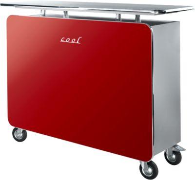 Theke Cool, rot hochglänzend