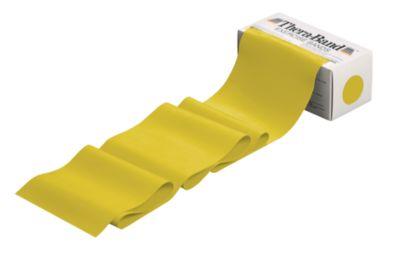 Thera-Band, voor gewrichtsontzienende spiertraining, dun, geel, voor een soepele spiertraining.