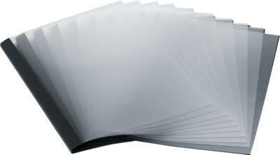 Thermische bindomslagen, leerstructuur, A4 formaat, 250 g/m², 50 stuks, zwart