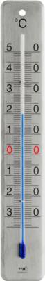 """Thermometer """"Innen-Außen"""", aus  gebürstetem Edelstahl"""