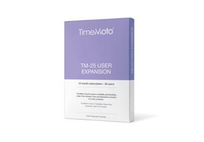 TimeMoto Uitbreidingspakket software Cloud TM 25, licentie voor 25 gebruikers, looptijd 1 jaar