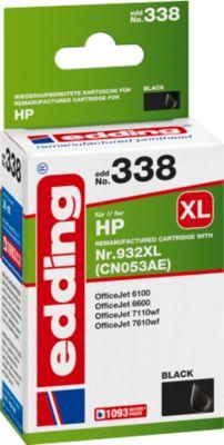 Tinte Edding kompatibel HP 932XL (CN053AE) schwarz