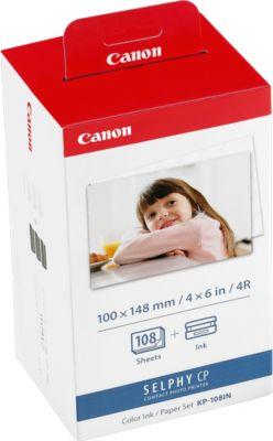 Tinten- und Papiersatz für SELPHY Canon KP-108IN