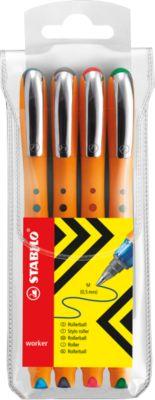 Tintenroller STABILO® bionic® worker, 4er-Set