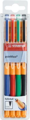 Tintenroller STABILO® PointVisco®, 4er-Mix