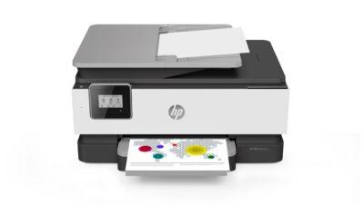 Tintenstrahl-Multifunktionsgerät HP OfficeJet 8012, 3 in 1, Farbe/SW, Smart-Druck, bis A4