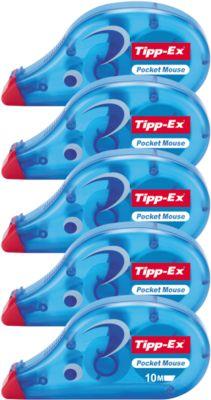 Tipp-Ex Mouse Korrekturroller, sofort überschreibbar, 10 m x 4,2 mm, 5er Pack
