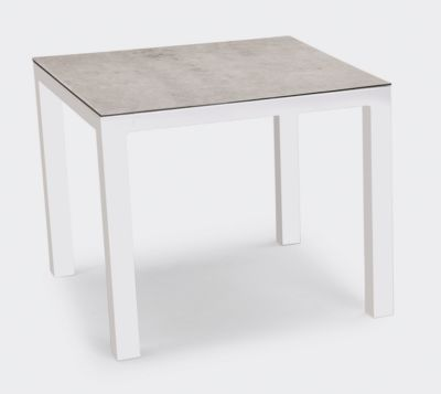 Tisch Houston, Aluminium, rechteckig, B900 x T900 mm, weiß