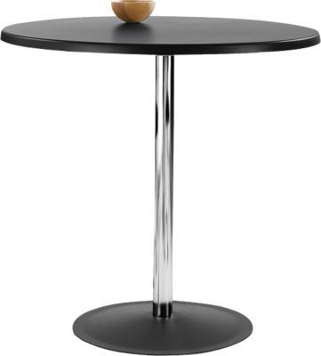 Tisch Lena, H 760 x Ø 800 mm, schwarz