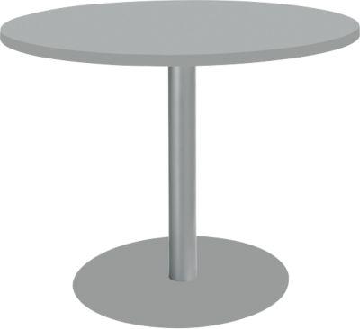 Tisch mit Tellerfuß, ø 1000 x H 717 mm, lichtgrau