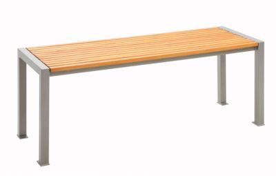 Tisch Münster, Füße Vierkantrohr 60 x 60 mm, Fläche Robinien-Holzleisten 30 mm, weinrot RAL 3005