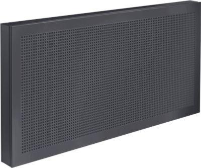 Tisch-Trennwand Akustika, B 800 x H 400 mm,graphit