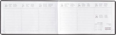 Tisch- und Taschenkalender, international, schwarz