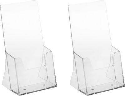 Tischaufsteller, Polystyrol, für DIN lang, 2 Stück