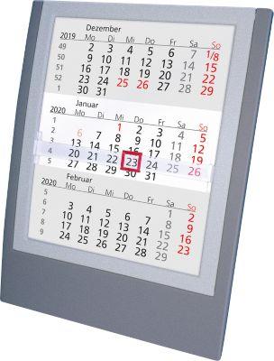 Tischkalender, deutsches Kalendarium, anthrazit/silber