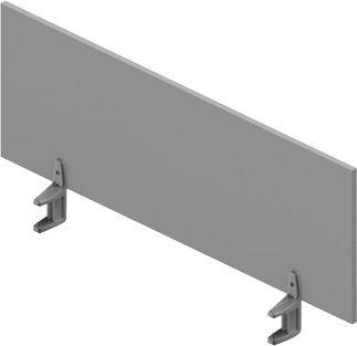 Tischtrennwand ARLON-OFFICE, 1200 mm , lichtgrau