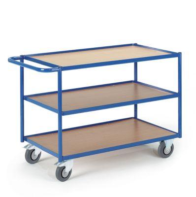 Tischwagen, Ladefl. L800 x B500 mm, 3 Etagen
