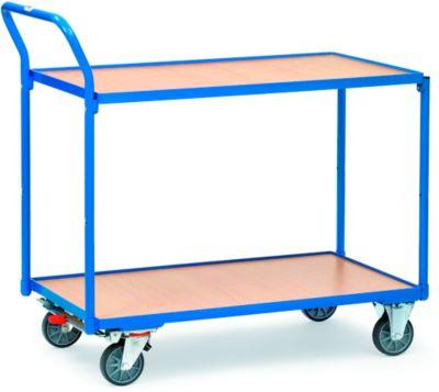 Tischwagen mit 2 Etagen, 850 x 500 mm