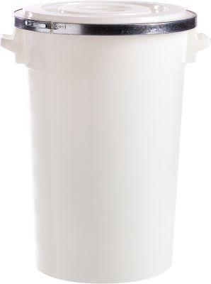Ton, van kunststof, inclusief deksel, 100 liter