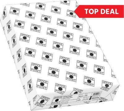 Top Deal Kopierpapier Office Point, DIN A4, 80 g/m², weiß, 1 Karton = 10 x 500 Blatt