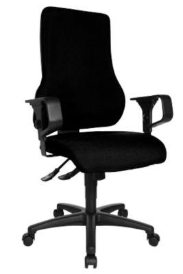 TOP POINT bureaustoel, zonder armleuningen, zwart