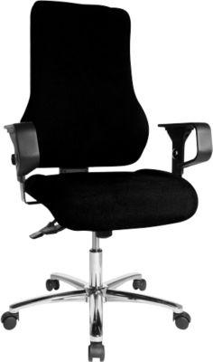 TOP POINT Deluxe bureaustoel, zwart