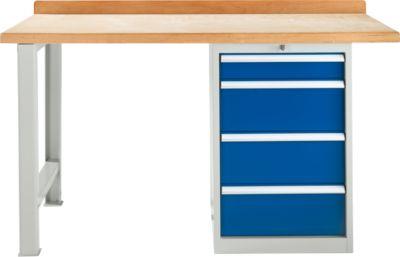 TOP-Werkbank, Werkbankschrank, 4 Schübe, Grundeinheit, 1500 mm breit