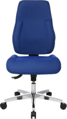 Topstar Bürostuhl FEEL GOOD, Synchronmechanik, ohne Armlehnen, hohe Rückenlehne, großer Muldensitz, blau