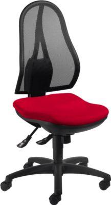 Topstar Bürostuhl OPEN POINT SY, Synchronmechanik, ohne Armlehnen, Bandscheibensitz, rot