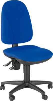 Topstar Bürostuhl POINT 300, Permanentkontakt, ohne Armlehnen, Lendenwirbelstütze, blau