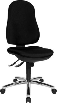 Topstar Bürostuhl POINT DELUXE, Synchronmechanik, ohne Armlehnen, hohe Rückenlehne, Bandscheibensitz