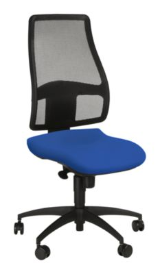 Topstar Bürostuhl Syncro Net, Synchronmechanik, ohne Armlehnen, Netzrücken, Bandscheibensitz, blau