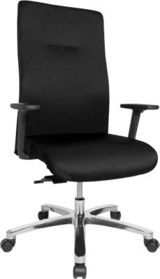 Topstar Bürostuhl XXL Big Star, Synchronmechanik, mit Armlehnen, Rückenlehnenhöhe 600 mm