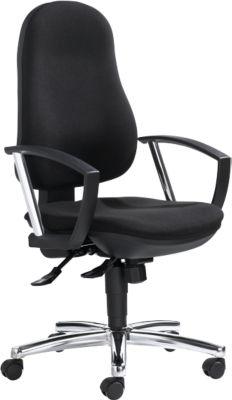 Topstar POINT DELUXE bureaustoel, synchroonmechanisme, met armleuningen, in hoogte verstelbare rugleuning