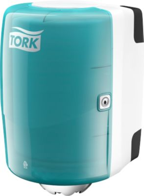 TORK dispenser, turkoois/wit