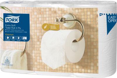 TORK® toiletpapier, kleine rollen, 4-laags, 42 rollen