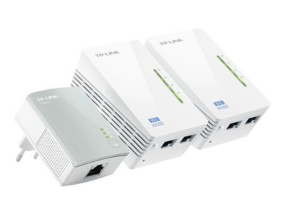 TP-Link TL-WPA4220T KIT AV500 Powerline Universal WiFi Range Extender, 2 Ethernet Ports, Network Kit - Bridge - 802.11b/g/n - an Wandsteckdose anschließbar