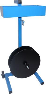 Tragbarer Abroller für Fadenspulen mit Bremse
