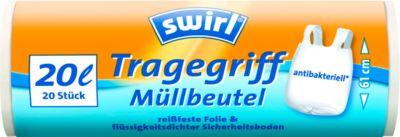 Tragegriff-Müllbeutel von Swirl®, 20 Liter, 20 Stück