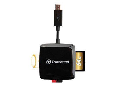 Transcend RDP9 Smart OTG Card Reader - Kartenleser - USB