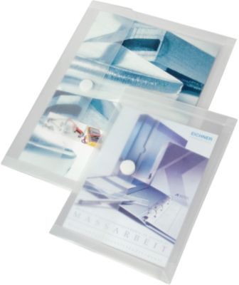 Transparante map met plooi, A4, 10 stuks